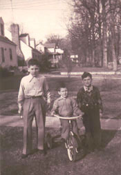 Francis Locke, Christopher Locke and William Ray, 1953, Silver Spring, Maryland - Photo by Mary Rose Locke