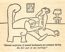 Drawing by James Thurber from Is Sex Necessary?
