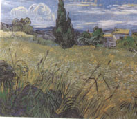 Van Gogh, Green Wheat Fields With Cypress