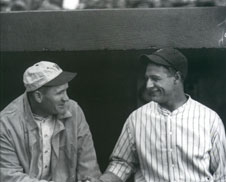 Walter Johnson and Lou Gehrig, 1937 - Photo by Charles M. Conlon