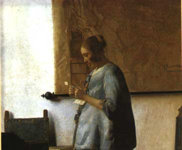 """Woman in Blue Reading a Letter"" by Jan Vermeer"